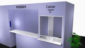 Caisse + vestiaire  1