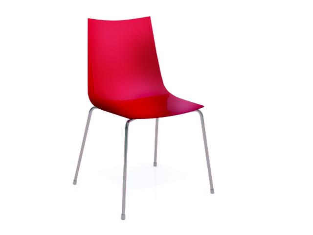 FLASHY Chaise Plastique Rouge
