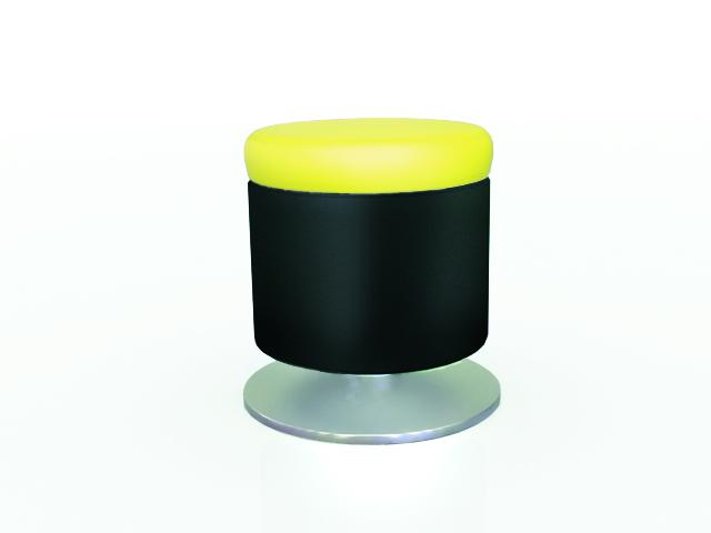 alloha pouf noir jaune optima installation g n rale salon exposition avec cloisons bois. Black Bedroom Furniture Sets. Home Design Ideas