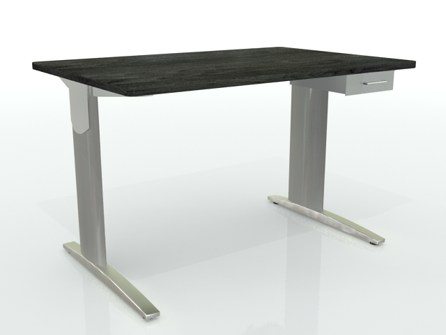 Ideal bureau 120×80 tiroir gris noir optima u2013 installation