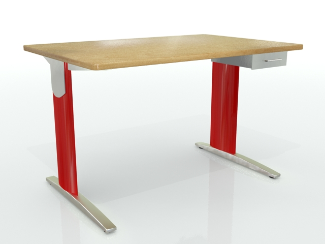 Ideal bureau 120×80 tiroir rouge bois optima u2013 installation
