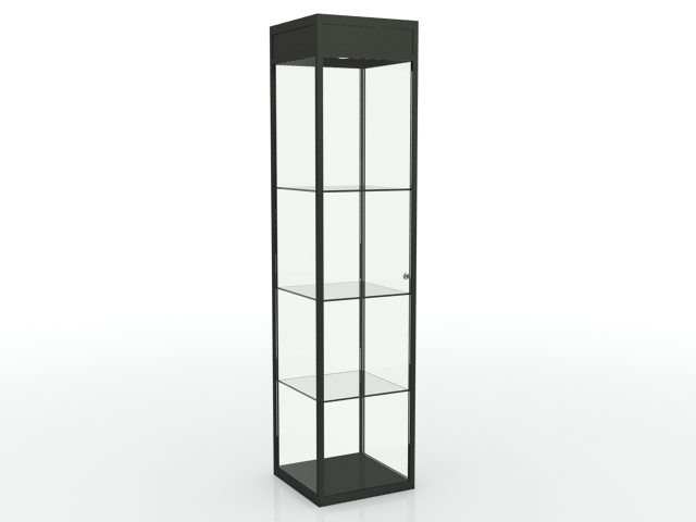 vitrine colonne noir optima installation g n rale. Black Bedroom Furniture Sets. Home Design Ideas